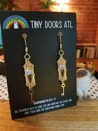 new new earrings atl tiny doorknob earrings knob and key tiny doors atl