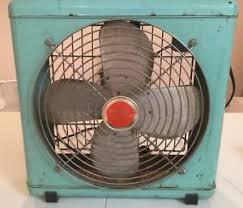 wizard breeze box fan 3 speed teal aqua blue vintage ebay