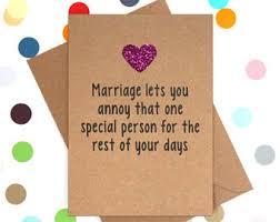 marriage card rude wedding card etsy