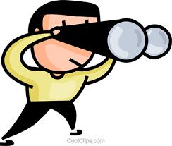 clipart uomo uomo cerca con il binocolo immagini grafiche vettoriali