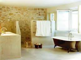 stone bathroom ideas rustic open bathroom shower doorless shower