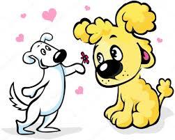 imagenes animadas sobre amor dos perros de dibujos animados de amor archivo imágenes