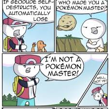 Pokemon Battle Meme - pokemon battle leading to self destruct in comic by james r