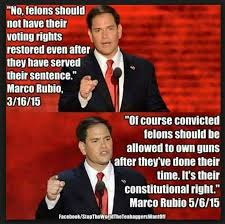 Voting Meme - fact check does marco rubio want to give felons right to own guns