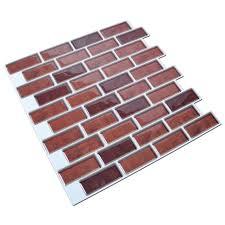 6 pack peel and stick brick backsplash tiles kitchen smart tiles