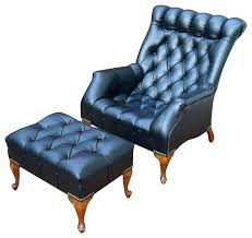 black leather club chair and ottoman tufted leather chair and ottoman house fluffing leather copper wood