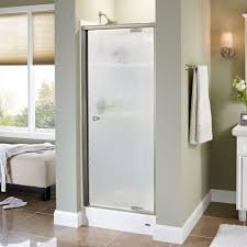 Shower Doors Pivot Delta Mandara 31 In X 66 In Semi Frameless Pivot Shower Door In