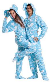 unisex deadmau5 blue fleece footed pajamas sized footie