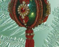 beaded christmas ornament kit santa