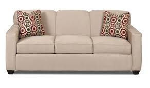 contemporary sofa contemporary sofa with tight back and track arms by klaussner