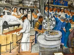 Coit Tower Murals Diego Rivera by Wpa Murals Coit Tower Wall Murals You U0027ll Love