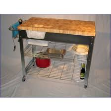 chris u0026 chris stadium kitchen workstation cart end grain top