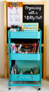 30 ways to organize with a utility cart home with cupcakes and