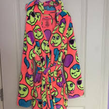 emoji robe find more justice brand emoji robe like new perfect gift for