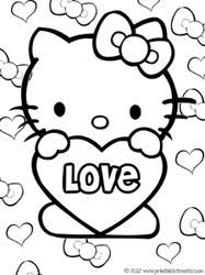 kitty valentines coloring pages u2014 printable treats