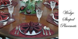 outdoor placemats for round table sweet pea linens collection of wedge shaped round table placemats