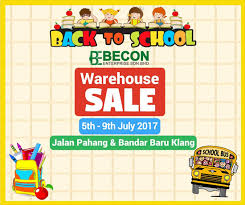 becon stationery warehouse sale jalan pahang klang books