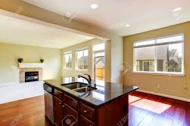 kitchen islands granite top modern kitchen island with granite top and built in sink in empty
