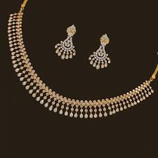 stone setting gold necklace images Miracle diamond necklace set best necklace jpg