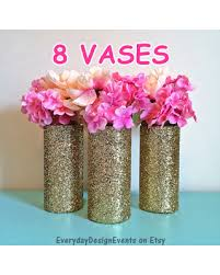 centerpiece for baby shower find the best deals on 8 gold glitter vases gold decorations