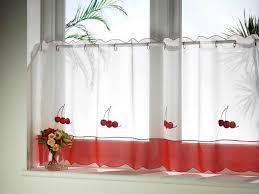 rideaux de cuisine et blanc cuisine design rideaux cuisine volier blanc motif cerises