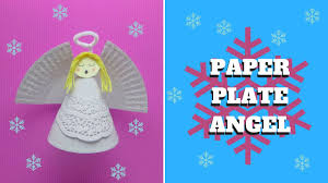 christmas craft paper plate angel paper plate craft youtube