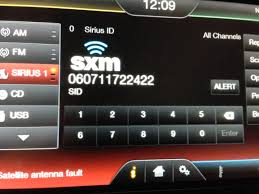 find your sirius radio id