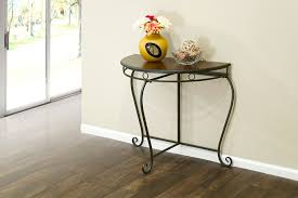 Half Circle Accent Table Home Adalia Metal Console Table Half Moon Half
