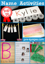 name activities kindergarten name activities and preschool