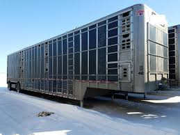 cattle trailer lighted sign 2014 wilson used spread shallow pot livestock trailer 5544941 eby