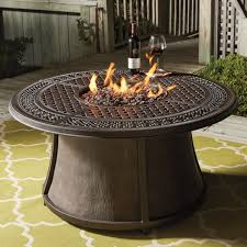 Outdoor Round Table Signature Design By Ashley Burnella Outdoor Round Fire Pit Table