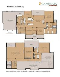 Floor Plan With Elevation by Denver Custom Home Builder Colorado