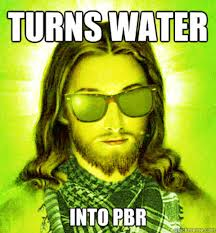 Funk Meme - beer is the new wine hipster jesus know your meme