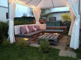 the lights underneath outdoor pallet furniture ideas creative