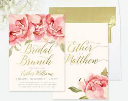 bridal brunch shower invitations bridal shower brunch etsy