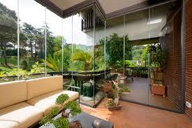 vetrata veranda vetrata scorrevole impilabile in alluminio tuttovetro