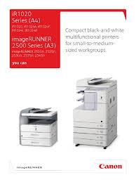 canon ir 2520 i 2525 i 2530 i 2535 i 2545 i photocopier brochure