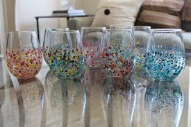 easy diy painted glasses plenty the magazine