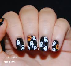 easy halloween ghost nail art youtube this is halloween nail art