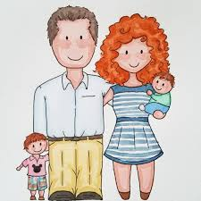custom family portrait gifts for couples paper anniversary