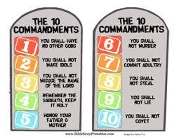 ten commandment file folder game