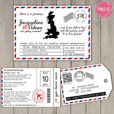 themed luggage tags destination wedding invitation boarding pass rsvp luggage tag