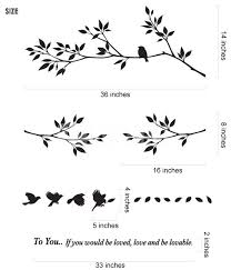 tree branch with birds wall decals stickers canada