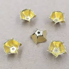 hair clasps 11x5mm vintage filigree flower charms spacer caps hair
