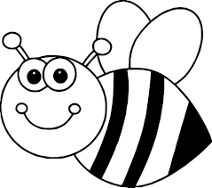 cartoon bee make a photo gallery bees coloring pages at best all