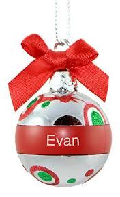 ganz personalized mini plastic ornament evan