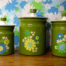 retro kitchen canisters set shop retro canister set on wanelo