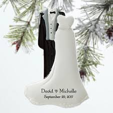 personalized ornaments wedding personalized wedding christmas ornaments mr mrs