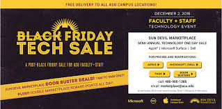 computers on sale for black friday faculty and staff one day only technology sale asu now access