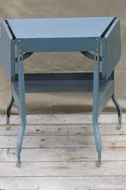 Metal Desk Vintage Typewriter Table Industrial Metal Desk Mid Century Typewriter